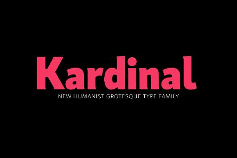 Kardinal Typefamily Free Demo