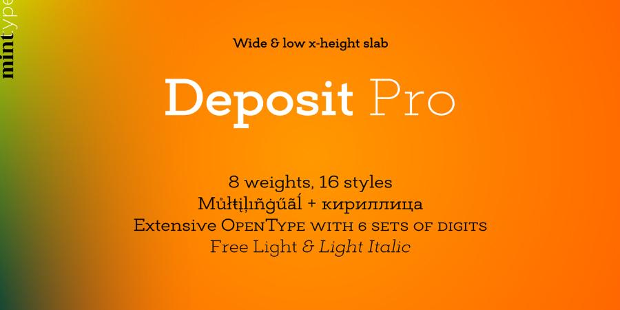 Deposit Pro Free Demo Typeface