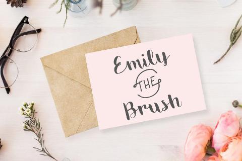 Emily Brush Free Typeface