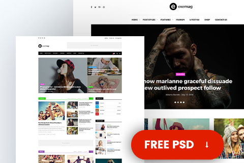 Free Multi-concept PSD Template