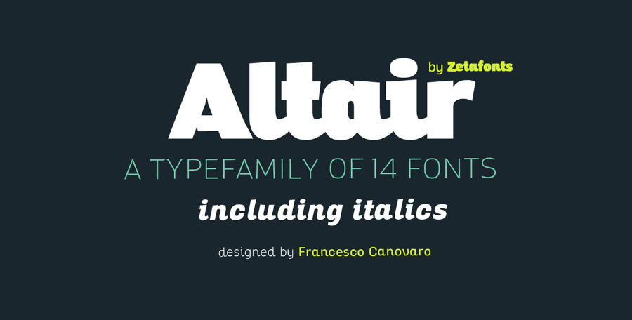 Altair TypeFamily Free Demo