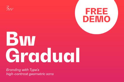 Bw Gradual Typefamily Demo