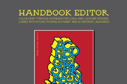 Handbook Editor Free Typeface