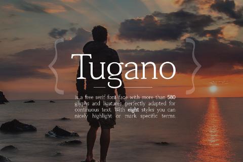 Tugano Serif Free Demo