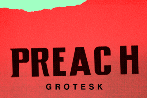 Preach Grotesk Free Typeface