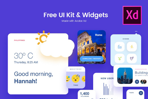 Free Adobe Xd UI Kit Widgets