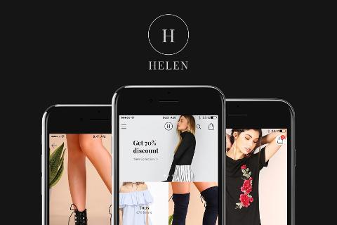 Helen Free iOS Ecommerce UI Kit