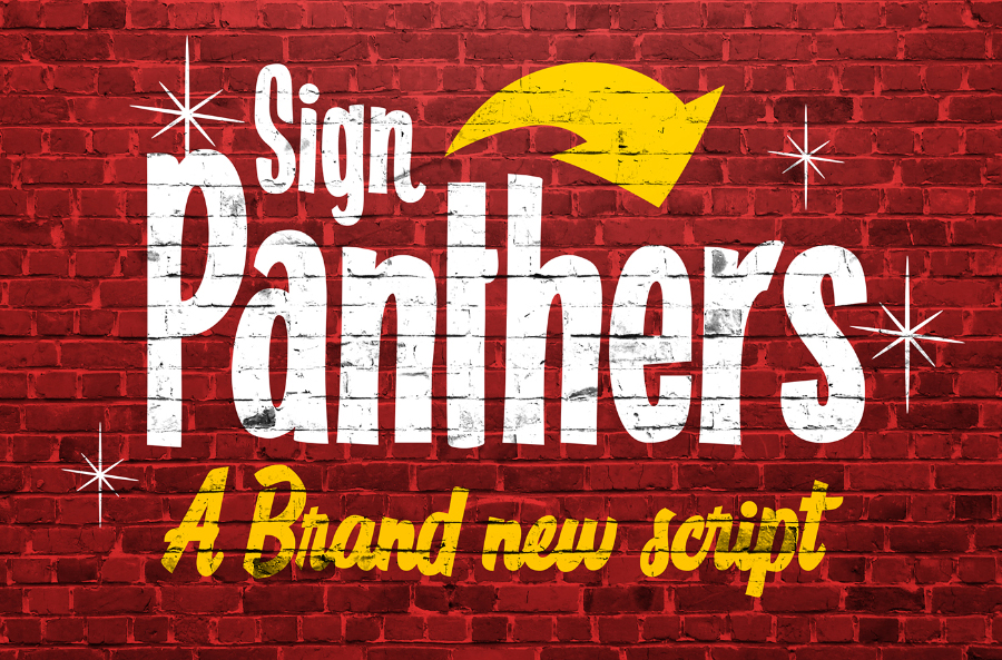 Sign Panthers Typeface Demo