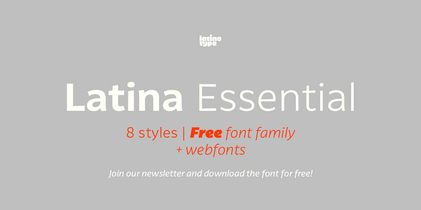 Latina Essential Free Typefamily