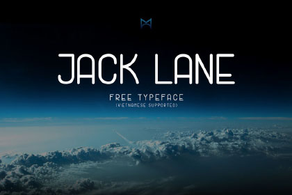 Jack Lane Display Free Typeface