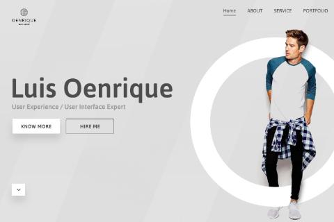 Personal Portfolio Design Template