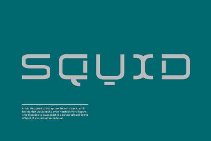 Squid Display Free Typeface
