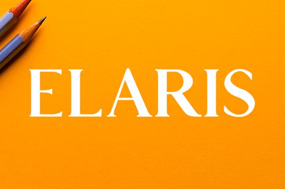 Elaris Serif Free Typeface