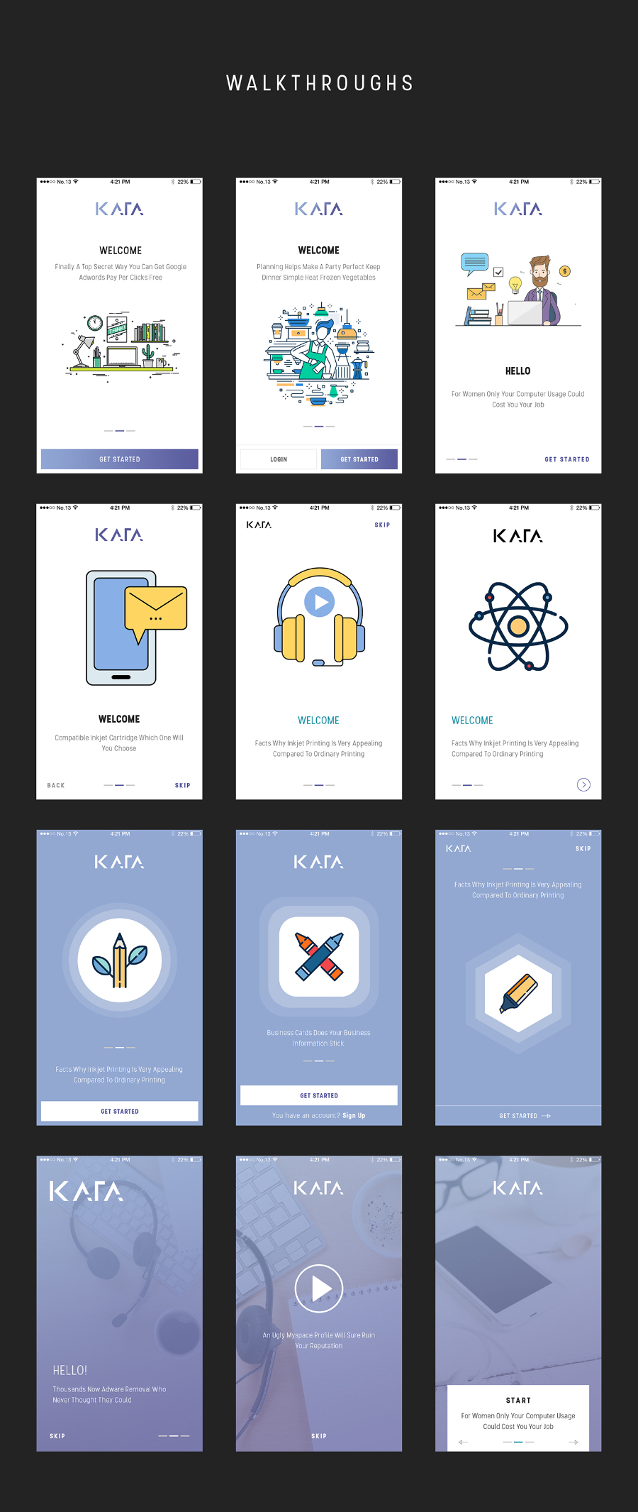 Kata mobile ui kit free demo free design resources for Mobile app terms and conditions template