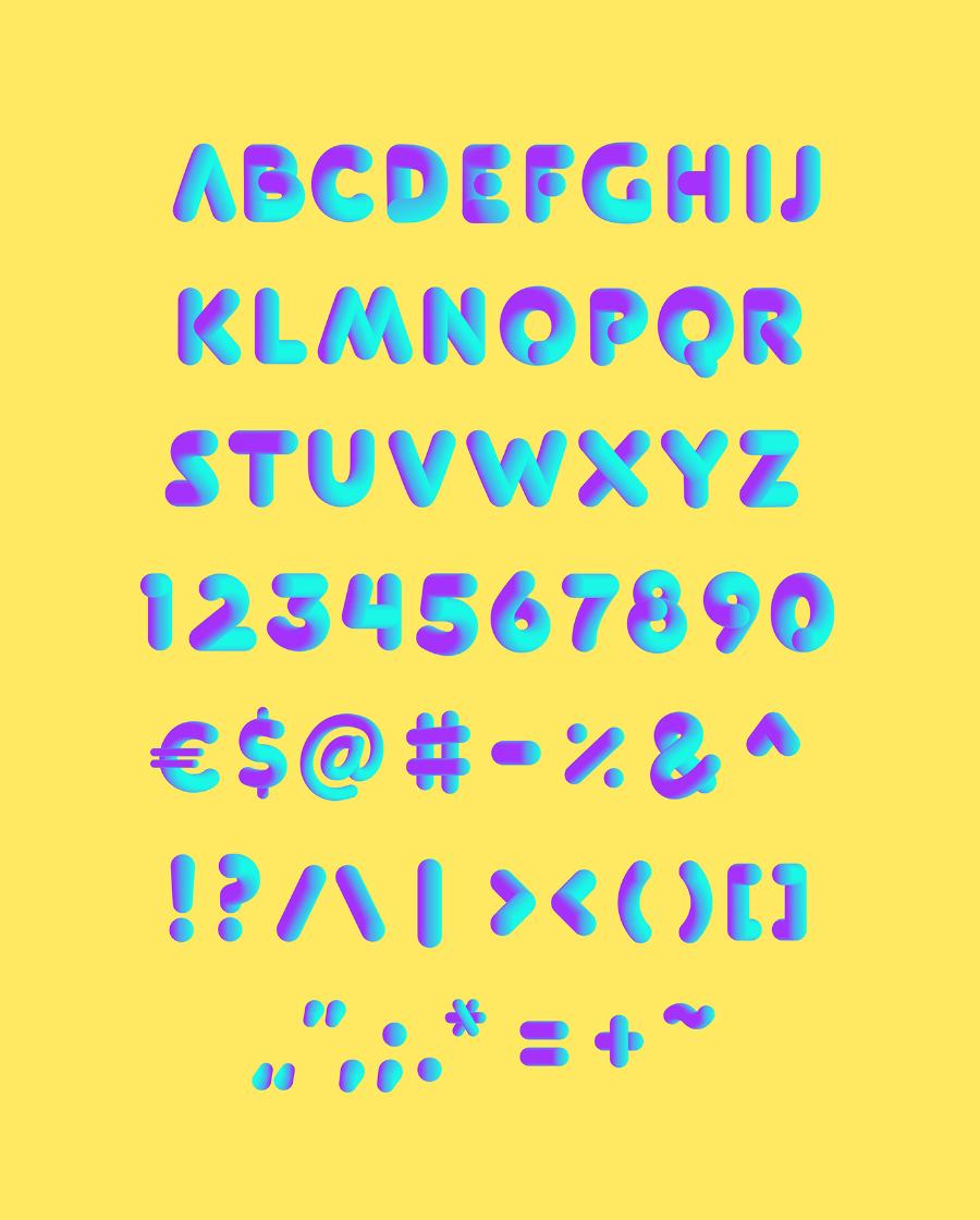 Softa Free Vector Typeface