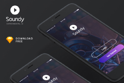 Soundy Free Mobile App UI Kit
