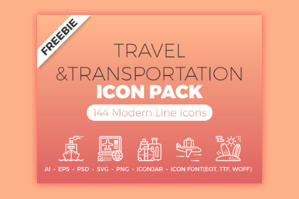 Free Travel Transportation Icons
