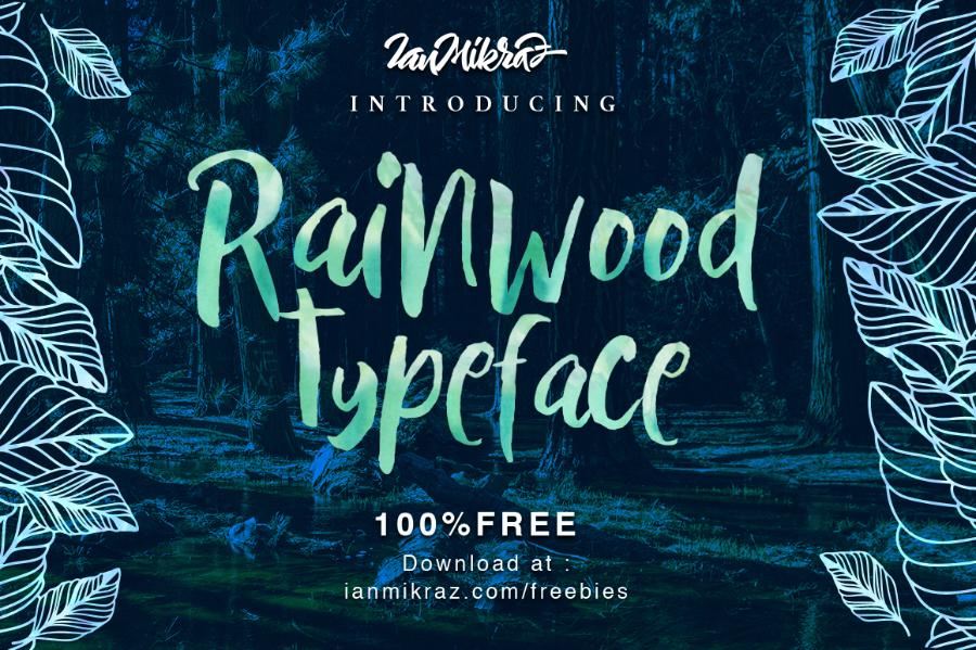 Rainwood Brush Free Typeface
