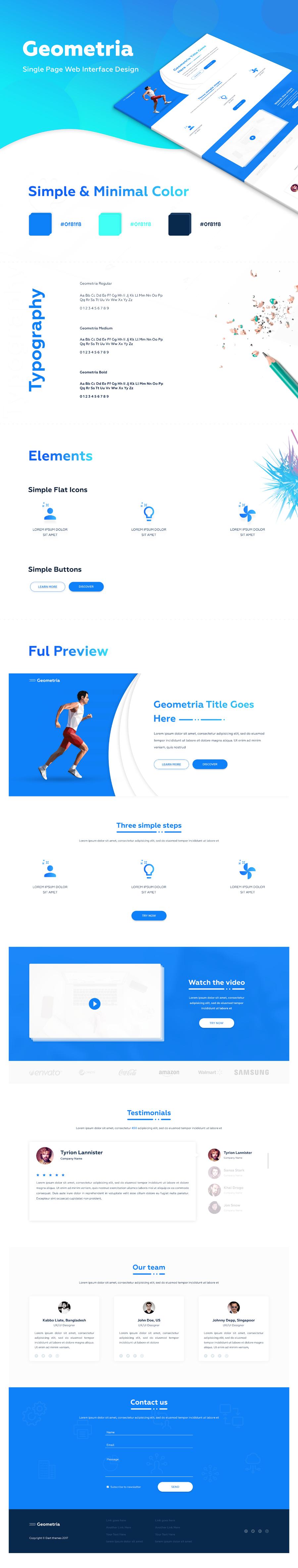 Geometria Free Landing Page