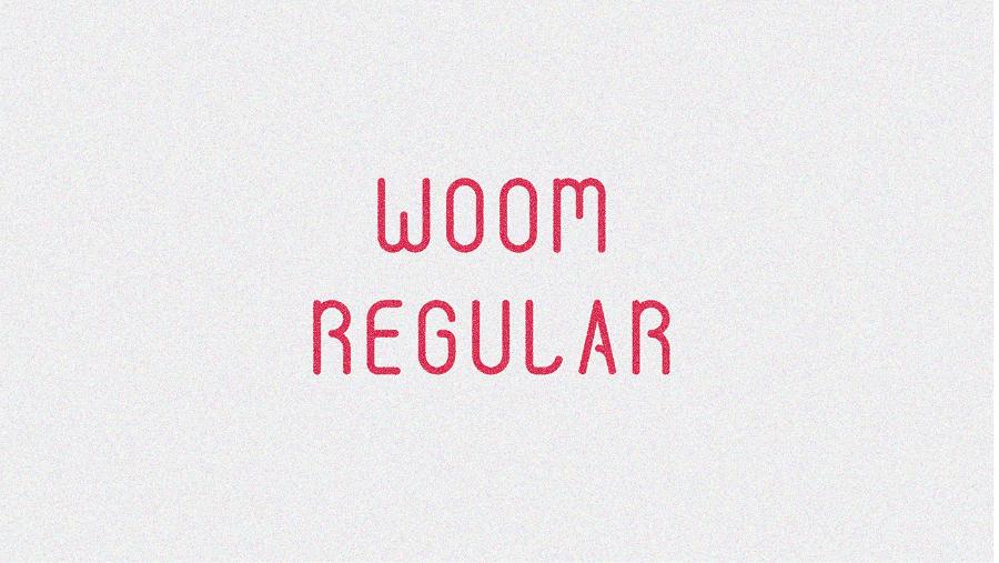 Woom Display Free Typeface