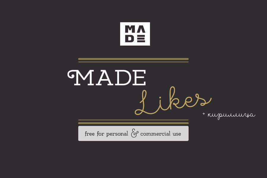 MADE Likes Free Typeface