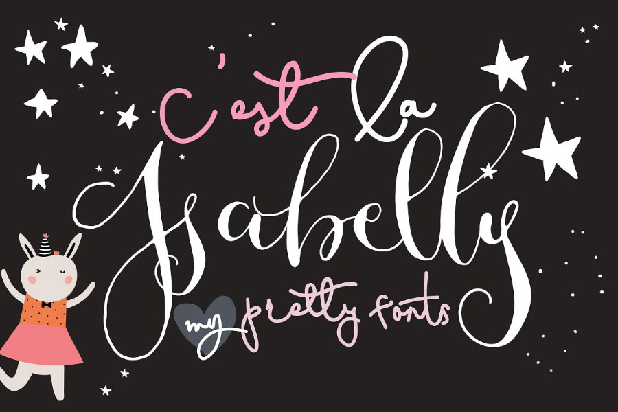 C'est La Isabelly Script Free Demo