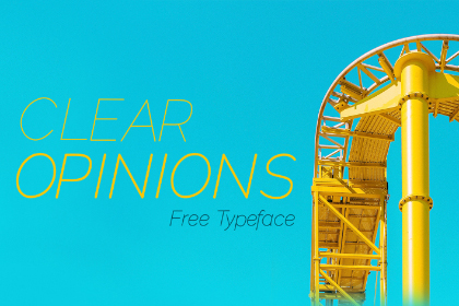 Clear Opinions Free Typeface
