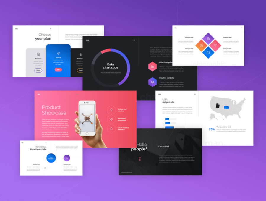 IRIS Free Keynote Template — Free Design Resources