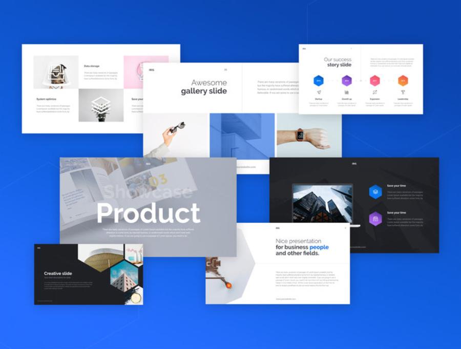 Iris Free Keynote Template  Free Design Resources