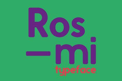 Rosmi Sans Free Typeface