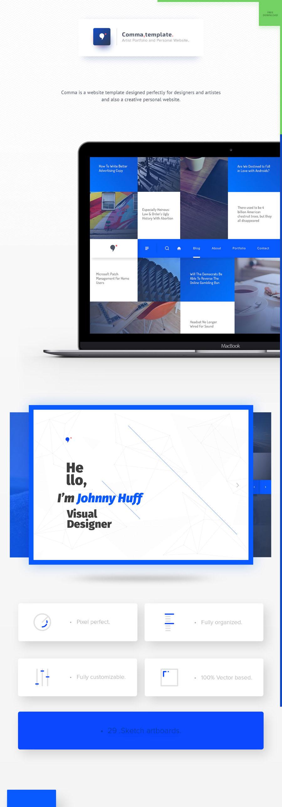sketch website template