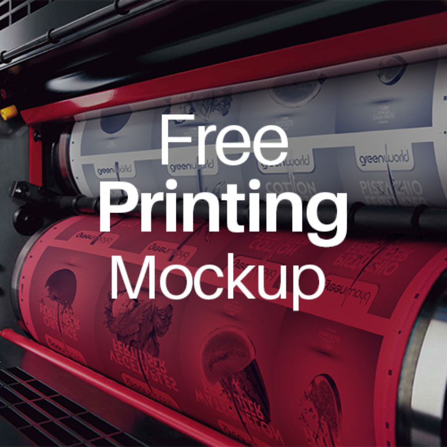 4 Free PSD Printing Mockups