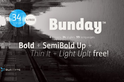 Bunday Sans Free Demo