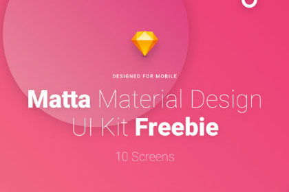 Matta Mobile UI Kit Free Version