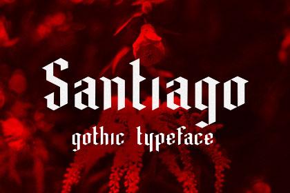 Santiago Black Letter Free Typeface