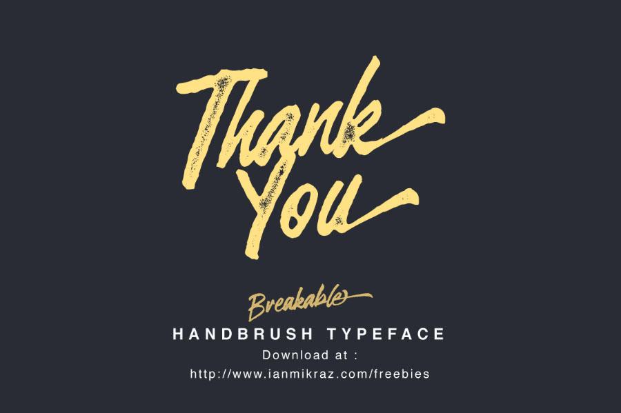 Breakable Free Handbrush Typeface