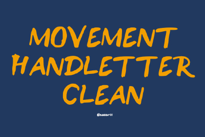 Movement Free Brush Font
