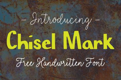 Chisel Mark Free Typeface