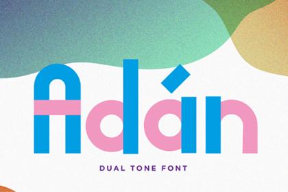 Adan Free Duo-tone Typeface
