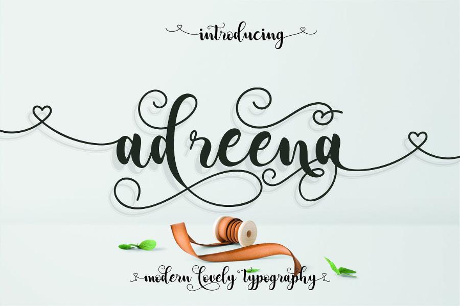 Adreena Script Free Demo