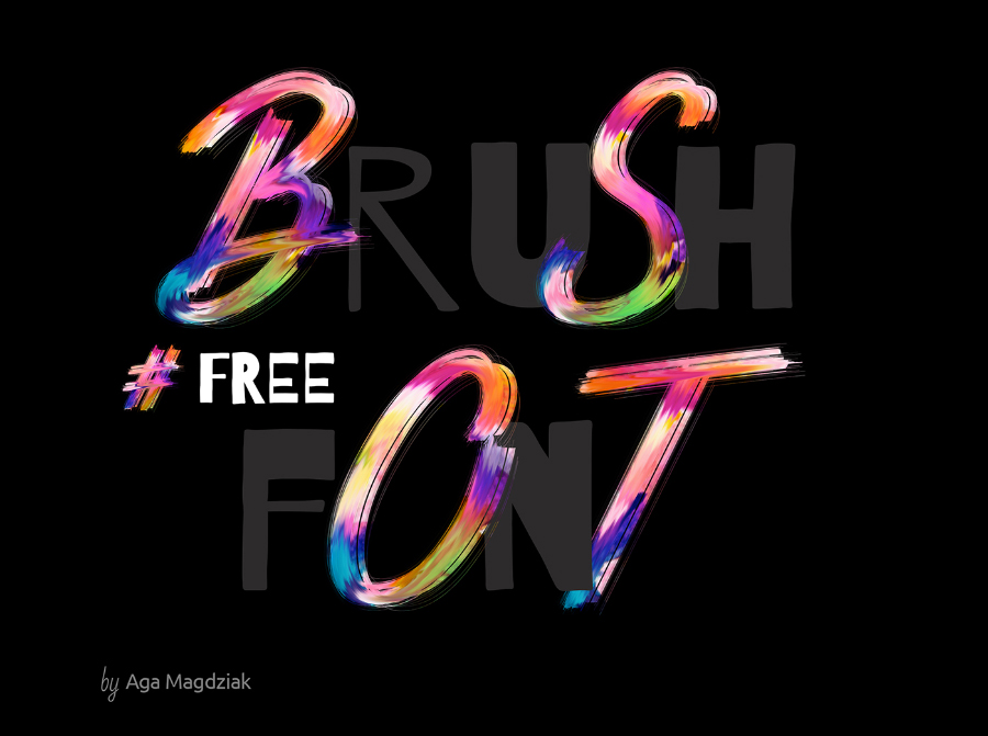 Free Colorful Brush Characters