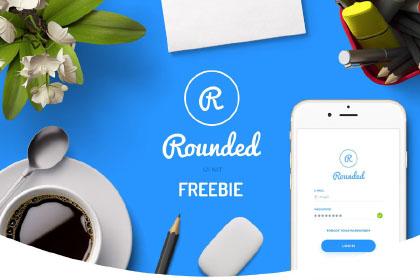 Round Mobile UI Kit Free Demo