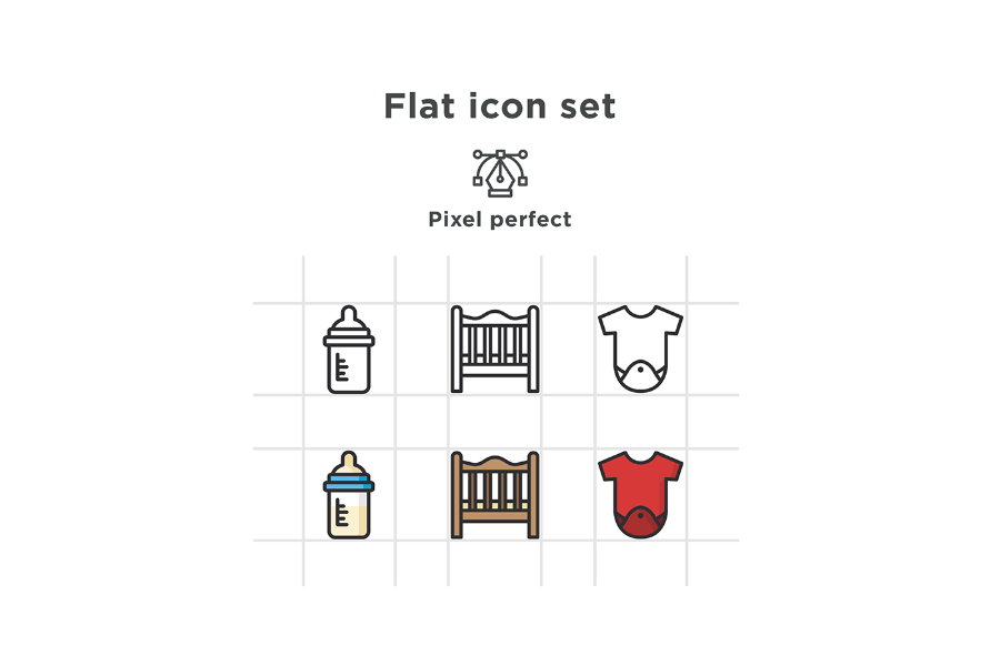 Free Vector Baby Icon Pack