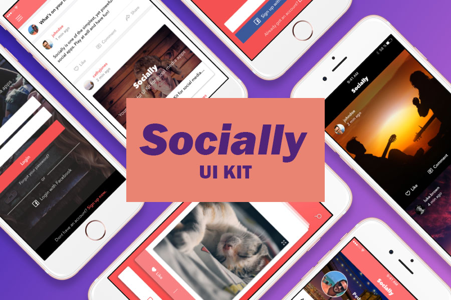 Socially Free Sketch UI Kit