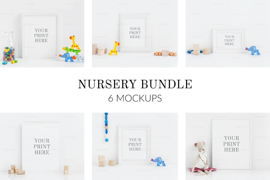 Nursery Frame PSD Mockup