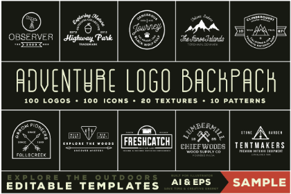 Adventure Logo Backpack Sample Pack