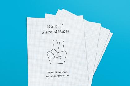 Stack Paper PSD Mockup
