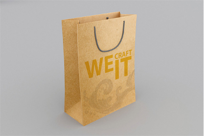 Shopping Craft Paper Bag Mockup