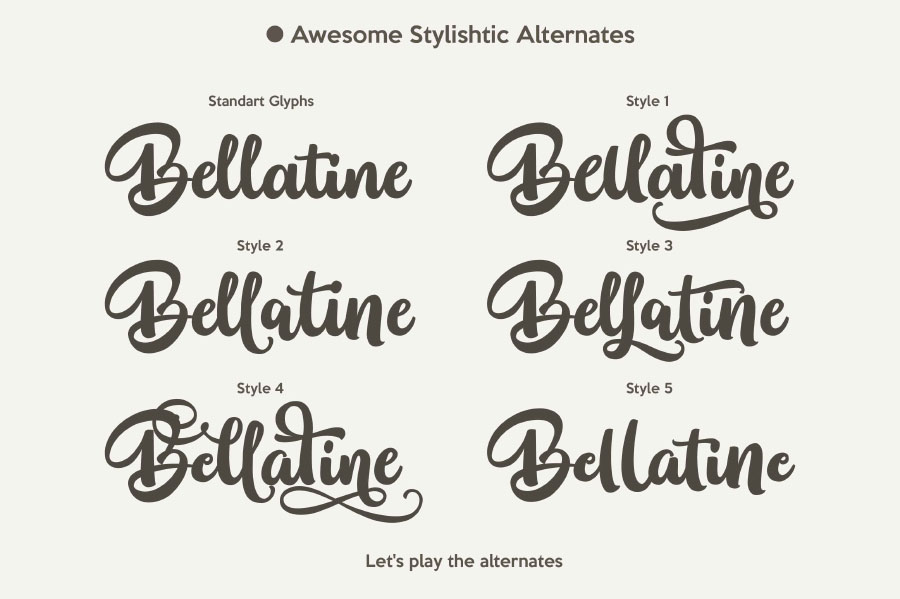 Bellatine Script Free Demo
