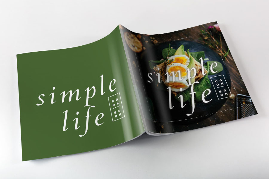 Simple Life Cookbook Template  Free Design Resources